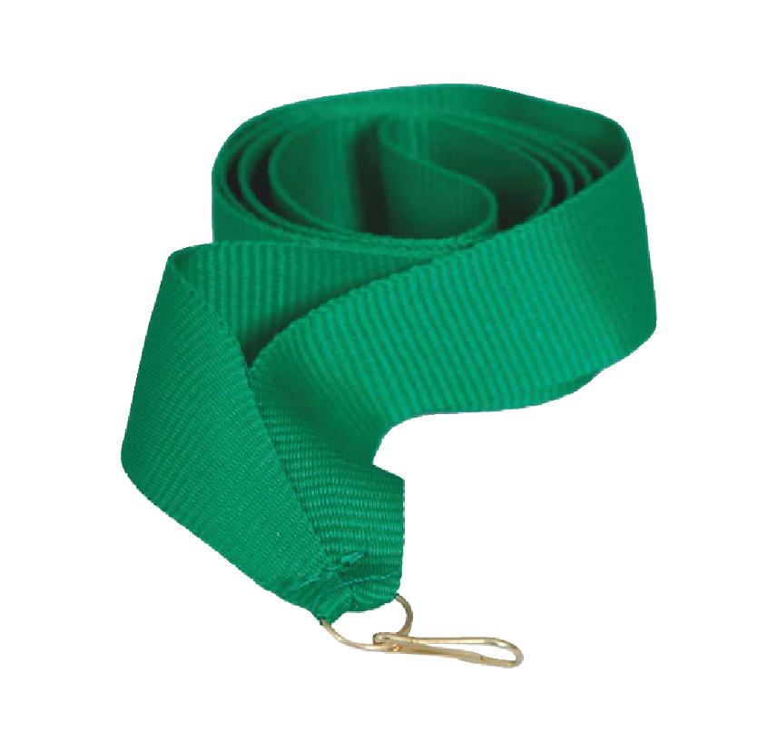 Лента для медали зеленая 15 мм.