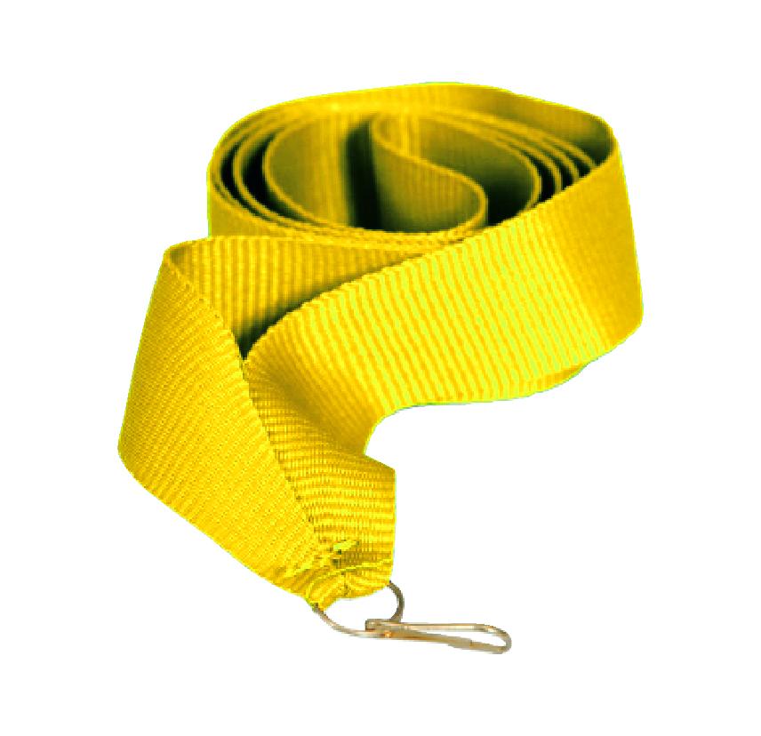 Лента для медали желтая 15 мм.