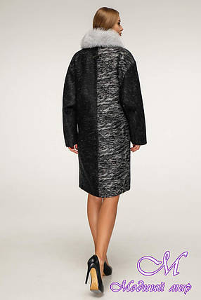 Женское зимнее пальто с мехом (р. 44-58) арт. 1212 Тон 4, фото 2