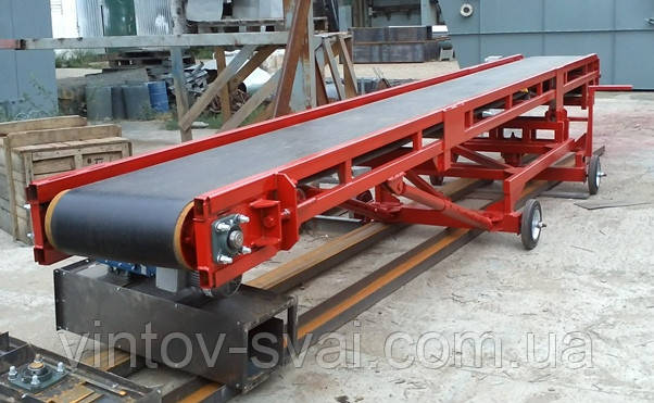 Стрічковий конвеєр шириною стрічки 200 мм, довжиною 5 м