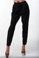 Женские черные брюки-бананы С-2006