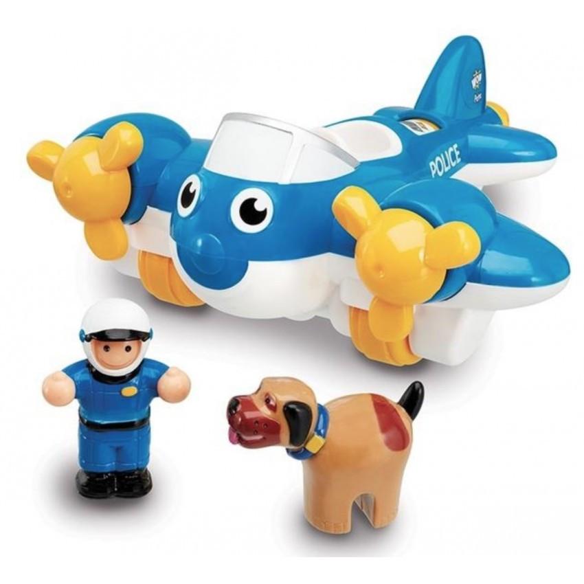 Игровой набор Police Plane Pete Полицейский самолет WOW TOYS 10309