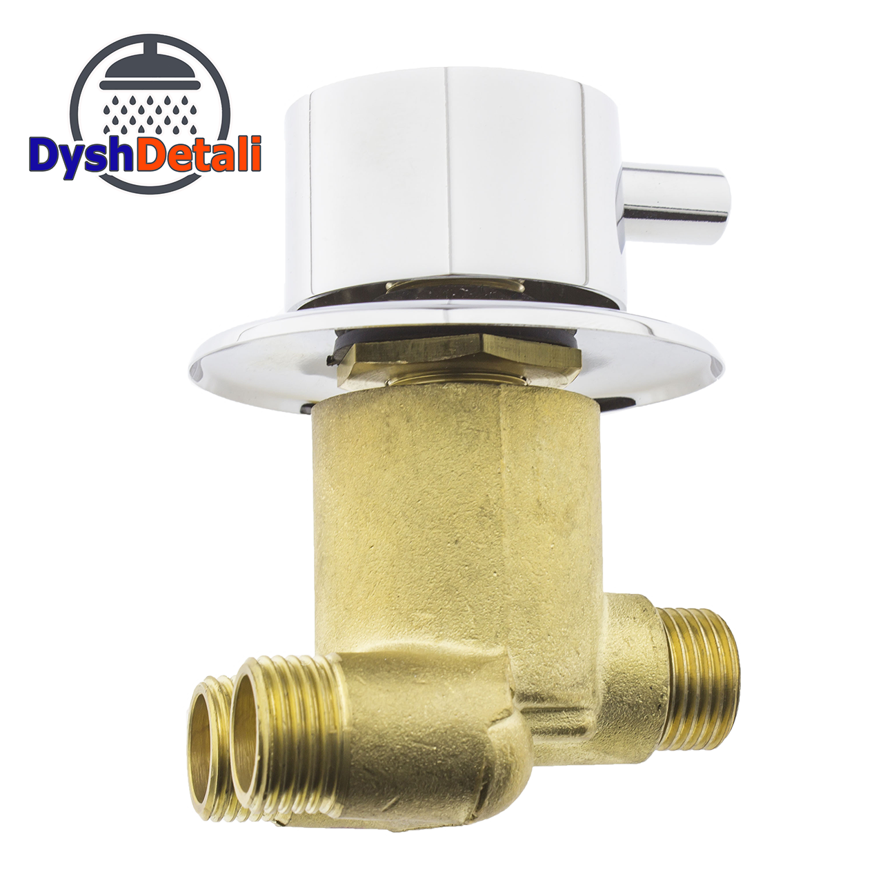 Смеситель для гидромассажной ванны и скрытого монтажа (ДЖ-6001) встраиваемый в изделие