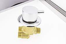 Смеситель для гидромассажной ванны и скрытого монтажа (ДЖ-6001) встраиваемый в изделие, фото 2
