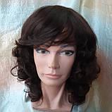 Парик из натуральных волос удлиненный каскад шоколадный ANGELIKA- 4, фото 2