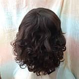 Парик из натуральных волос удлиненный каскад шоколадный ANGELIKA- 4, фото 4