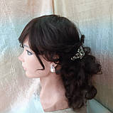 Парик из натуральных волос удлиненный каскад шоколадный ANGELIKA- 4, фото 6