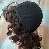 Парик из натуральных волос удлиненный каскад шоколадный ANGELIKA- 4, фото 9
