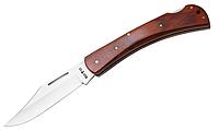 Нож складной с деревянной рукояткой и универсальной длиной, с надежным замком бэк-лок, коричневый