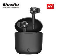 Наушники вакуумные беспроводные Bluedio Hi TWS с микрофоном (черные)