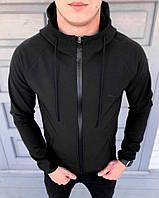 Мужская куртка Пума софт шелл черная (реплика)