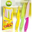 Набор метало-керамических ножей кухонных 3шт, фото 2