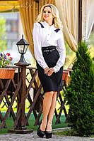 Нарядная женская белая блуза с оборками, фото 1