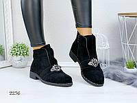 Женские ботинки осенние с декором, фото 1