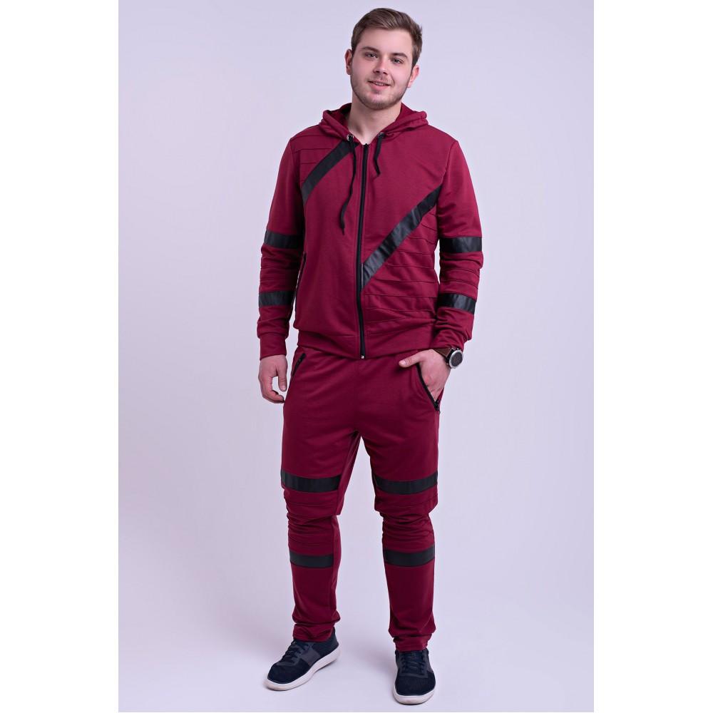Мужской спортивный костюм Конти бордовый( 48-56)