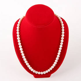 Бусы - натуральный белый жемчуг, серебро, 62 см. Класс А.