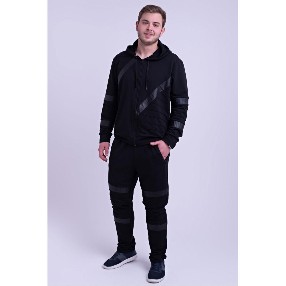 Мужской спортивный костюм Конти черный( 48-56)