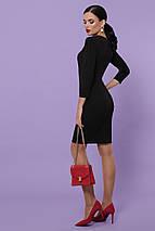 Классическое платье до колен по фигуре рукав три четверти цвет черный, фото 2