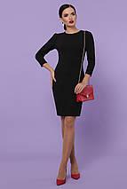 Классическое платье до колен по фигуре рукав три четверти цвет черный, фото 3
