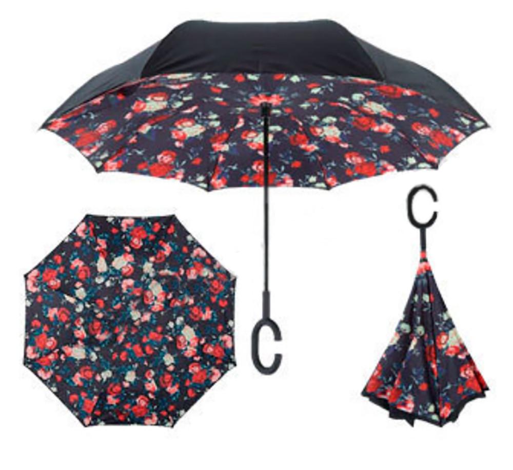 Зонт обратного сложения Up-brella Розы №14