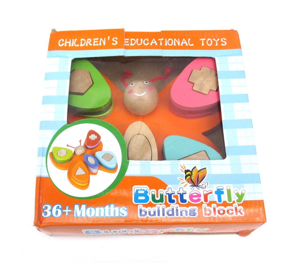 Логическая деревянная игрушка бабочка, ДЕРЕВО! 1194