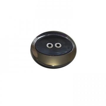 Пуговицы ПА - 587 д-р 30мм черный/блек никель