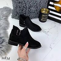 Женские осенние ботинки, эко замш, фото 1