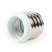 Переходник e.lamp adapter.Е40/Е27.white, с патрона Е40 на Е27, пластиковый