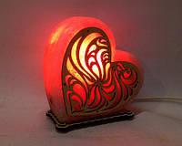 """Соляная лампа светильник Сердце"""" большое"""