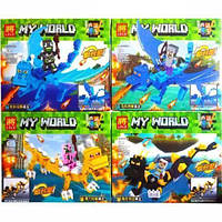 Конструктор  Майнкрафт для мальчиков My world 33263 MK в коробке  Черный дракон