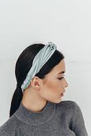 Повязка на голову Лиреа голубая