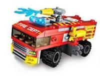 Конструктор для детей тематический BRICK 1410-6 (8 видов) пожарная техника
