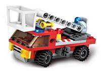 Конструктор для детей тематический BRICK 1410-8 (8 видов) пожарная техника