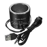 Мини портативная MP3 колонка FM с подсветкой