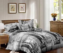 Полуторный комплект постельного белья 150*220 сатин (10542) TM КРИСПОЛ Украина