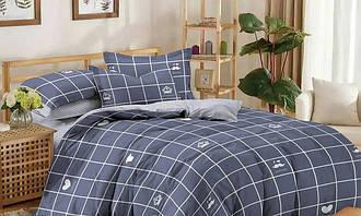 Полуторный комплект постельного белья 150*220 сатин (11185) TM КРИСПОЛ Украина