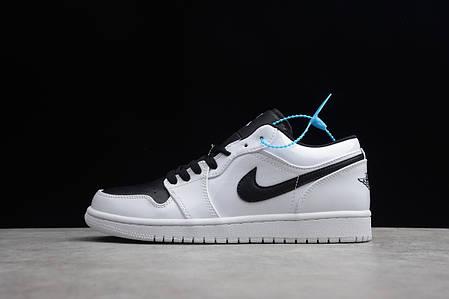 """Кроссовки Nike Air Jordan 1 low """"Белые\Черные"""", фото 2"""