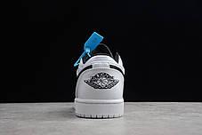 """Кроссовки Nike Air Jordan 1 low """"Белые\Черные"""", фото 3"""