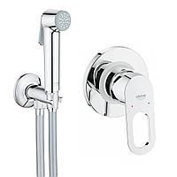 Grohe Набор BauLoop 2 в 1 для туалета, гигиенический душ со смесителем скрыт. монтажа 2904200B