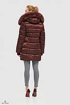 Пуховик зимний женский с опушкой, фото 3