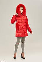 Пуховик зимний женский с опушкой, фото 2