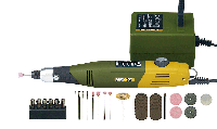 Набор моделиста, гравера. Бормашина PROXXON МИКРОМОТ 60/E, сетевой адаптер, 34 расходных инструмента