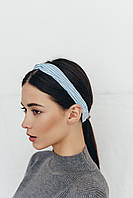 Повязка на голову Атиса голубая