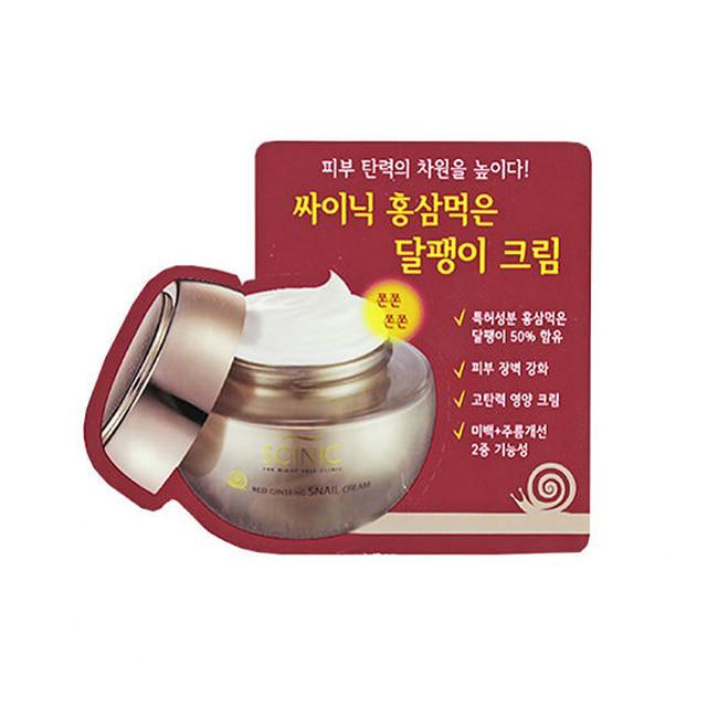 SCINIC крем для лица с экстрактом красного жень-шеня и экстракта слизи улитки Red Ginseng Snail Cream