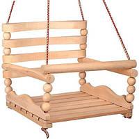 """Качеля детская  №3 K-0160 """"БУК"""" деревянная подвесная качеля"""