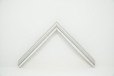 Багет дерев'яний тонкий 1,5см срібний
