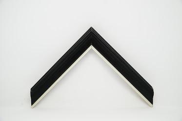 Багет дерев'яний чорна з срібною полоскою