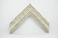 Багет дерев'яний срібний