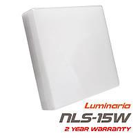 Накладной светодиодный светильник LUMINARIA NLS-15W AC170-265V 15W 5000K, нейтральный белый свет (квадрат)