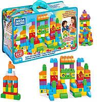 Конструктор Mega Bloks 150 деталей Let's Get Learning Building Set Fisher-Price набор Мега Блокс FVJ49